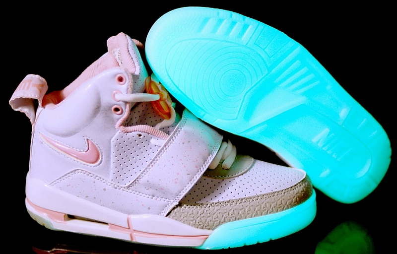 Nike Air Yeezy Shoes Grey Pink Glow Dark