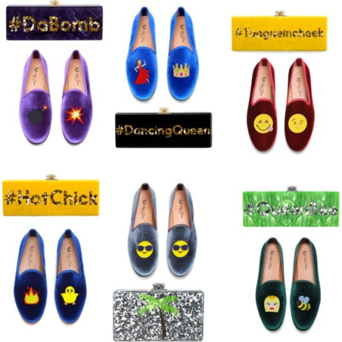 emoji collage shoes